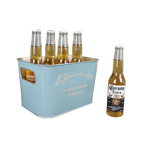 5-12 liter rectangular metal ice beer bucket for budweiser promotions