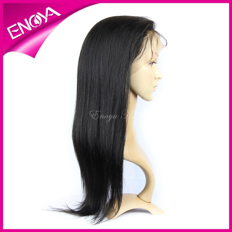 Peruvian Virgin Hair Yaki for African Amecian Women Silk Base Full Lace Wig