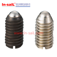 Metric size steel spring ball plunger with slot LC-BPES