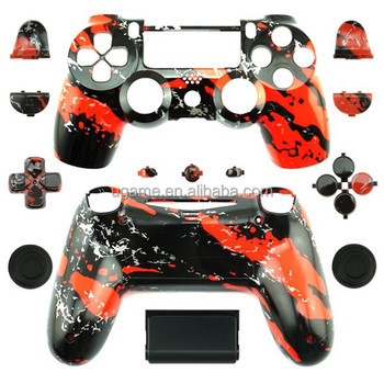 Custom Hydro Dipped Red Splatter Replacement Housing Shell Case for DualShock 4 For PS4 Wireless Controller Cover