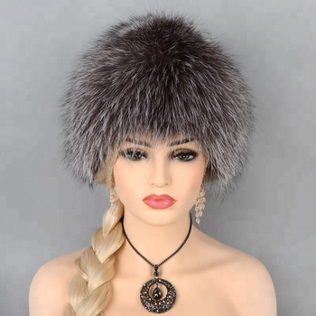 Russian Style Winter Warm Real Fox Fur Hats - Buy Womens Winter ... ac70a2fa650