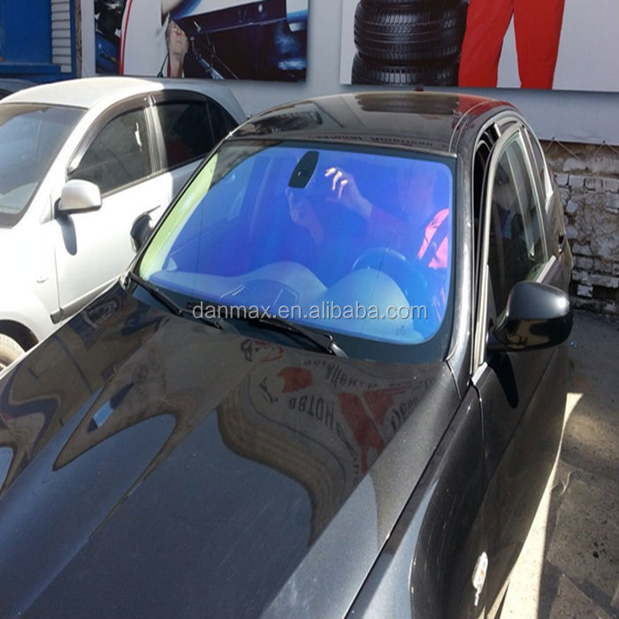 Car windshield sun shade chameleon front screen window tint film
