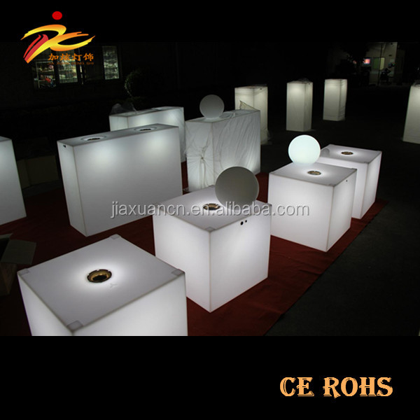 Luminous furniture flashing LED cube chair/cube seating outdoor