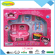 Kids kitchen set toy battery operated stove with tableware playset