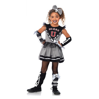 Customized carnival theme party dress up costumes ideas gothic cheerleader carnival halloween costumes