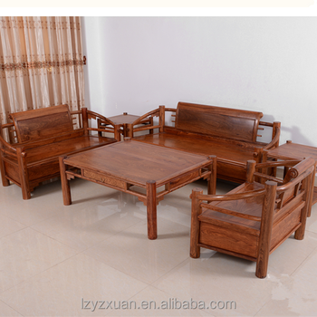 2017 Beautiful Strong Durable Wooden Frame Sofa Set Design With 6