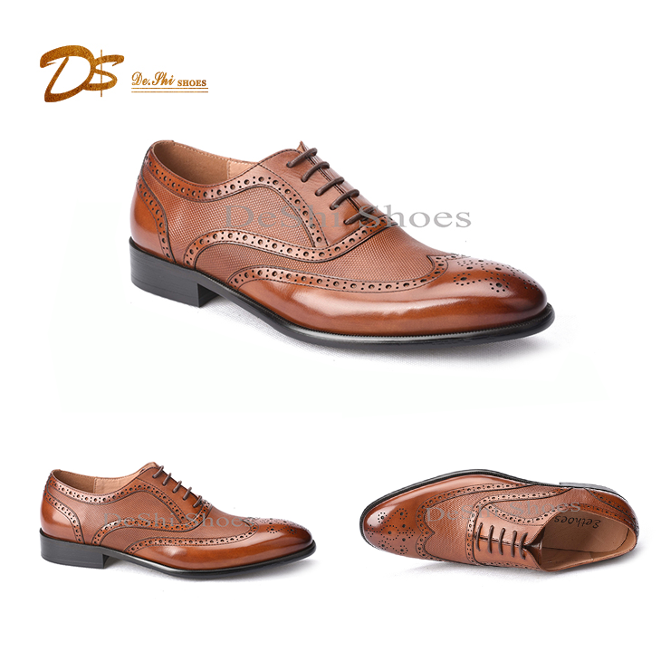 d60c88f4af921 Italy custom hand made brogue oxford leather formal men dress shoes