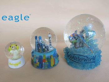 Customized Souvenirs Gift Aqua Glass Crystal Ball Snow Globe