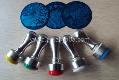 2015 New nail stamper of metal material with silicon refill