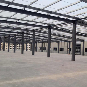 Large span prefabricated building system workshop warehouse hangar multi story steel structure