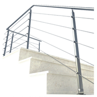 Indoor stainless steel stairs, handrails stainless steel porch post