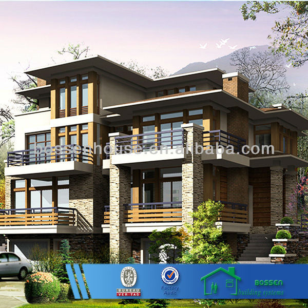 ready-made luxury furnished prefabricated villas