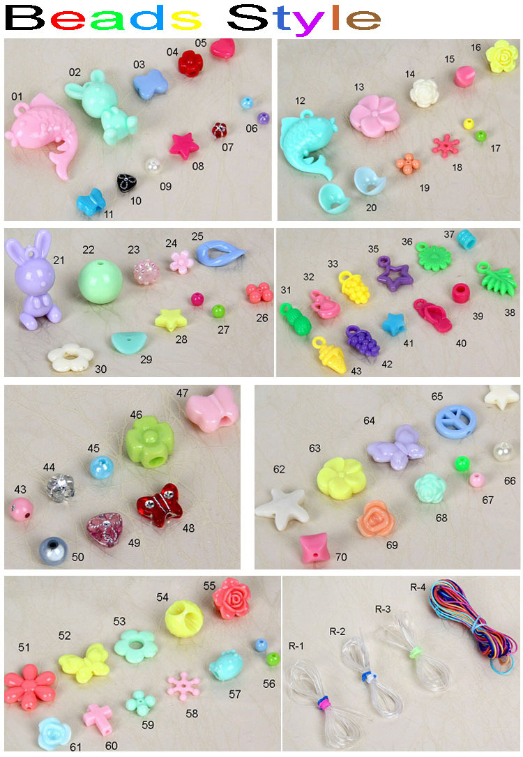 Plastic Bead Necklace Designs,Fashion Bead Bracelet For Children ...