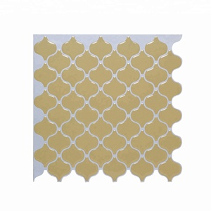 light yellow lantern mosaic pattern wall tile