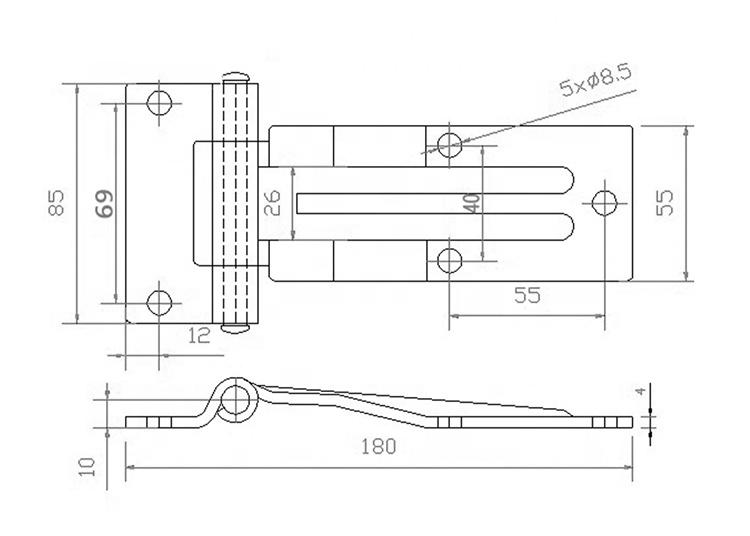 "Crown Head Brass Bending Door Pin Hinge 70Mm Glass Shower Fencing 6Mm 6 "" Stainless Steel 304 Double Action Spring 8 Inch T Hinx"