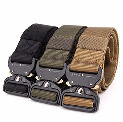 Toptan ayarlanabilir açık ağır erkekler özel naylon askeri polis eğitimi taktik dokuma kemer ordu için