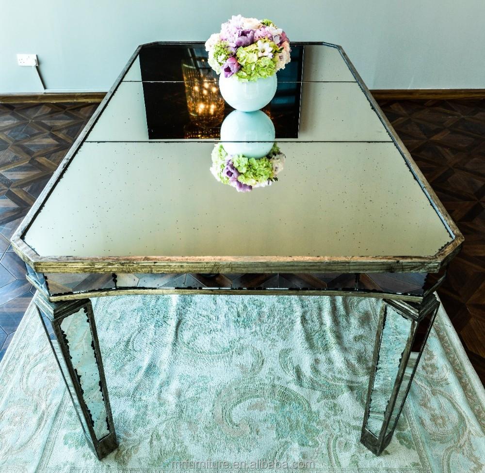 Antiguo espejo de mesa de comedor mesas de comedor for Espejos rectangulares para comedor