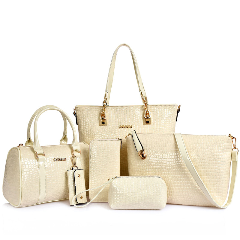 Wechat Hdbagsk4 Hot 6 Pcs In 1 Set Handbags For Women Fashion Las Handbag China Whole
