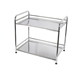 Stainless steel 2 tier stand rack kitchen microwave oven stand
