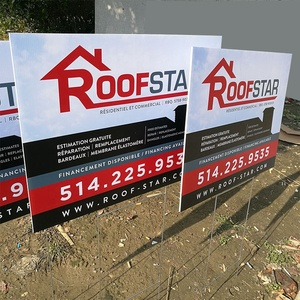 Hot Sale PP Material Coroplast Advertising Boards Outdoor Corrugated Plastic Yard Signs