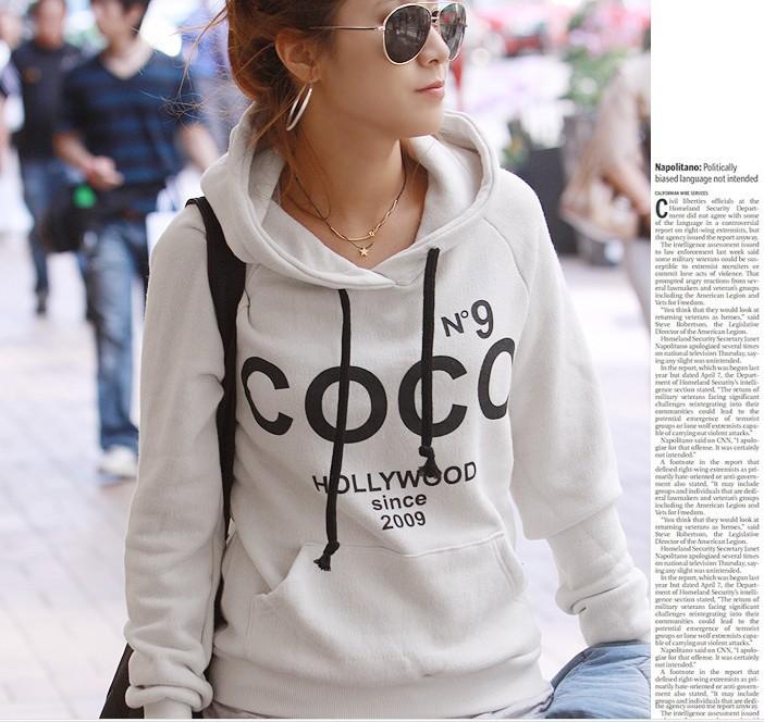 2015 new fashion homme femme cc hip hop no 9 coco print street crewneck hoodie fleece sweatshirt. Black Bedroom Furniture Sets. Home Design Ideas