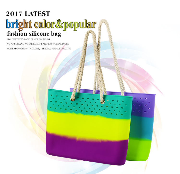 Fashion Design Lady And Women Shoulder Bag Cheap Shpping Bag Silicone Bags Handbag