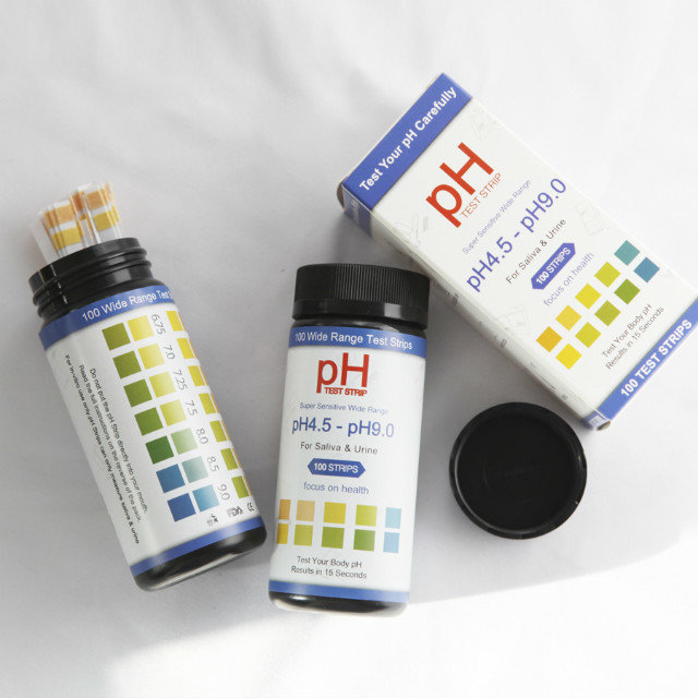 ph 4.5-9.0 test strips for urine and salive