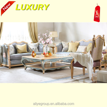 French Style Fancy Sofa Set Carved Wooden Furniture Malaysia Amf9142