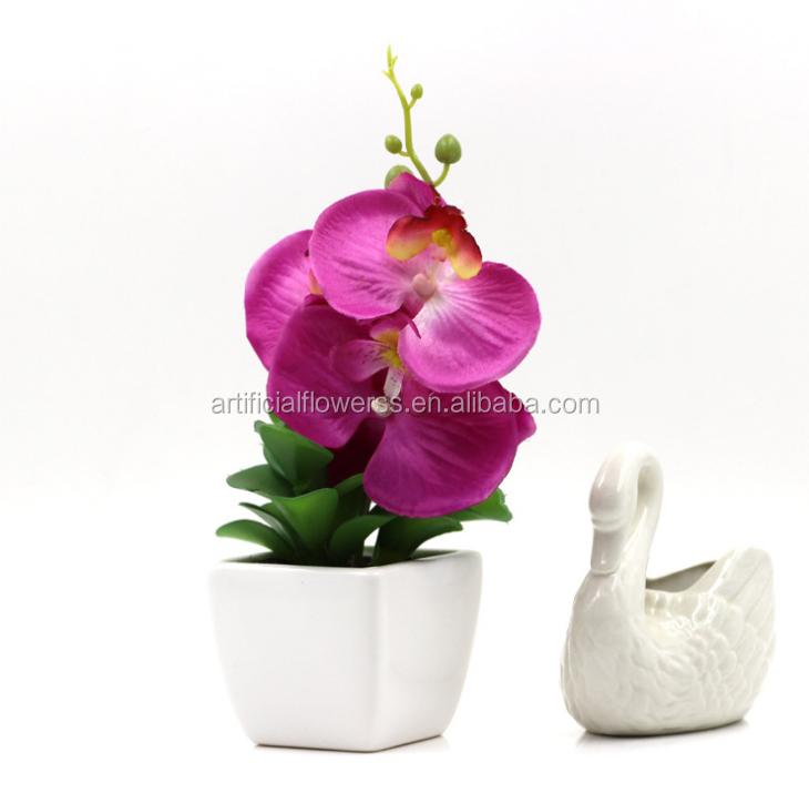 Groothandel goedkope kunstmatige orchidee bloem maken voor huisdecoratie tafel bruiloft - Afbeelding van huisdecoratie ...