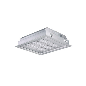 Low consumption led canopy lights 150w led recessed downlight for gas station and petrol station