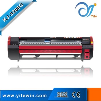 Fast speed of kj 3208g flax window sticker printing machine