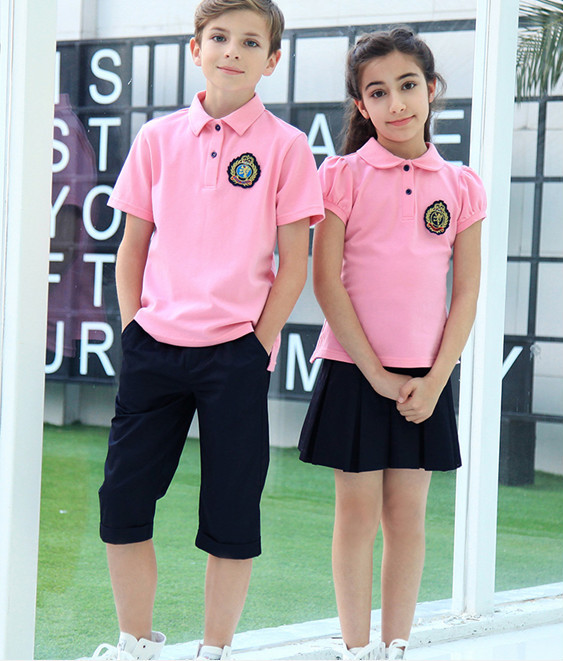 High quality Pink polo shirts school uniform, View Pink polo ...