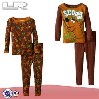 Kids Boys 2-7 Scooby Doo 4 Piece Sleep Cotton Set Pajama - Buy ... 9f3d95b6d