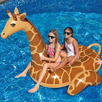 Giant Inflatable Animal Ride On Giraffe Floats For Pool