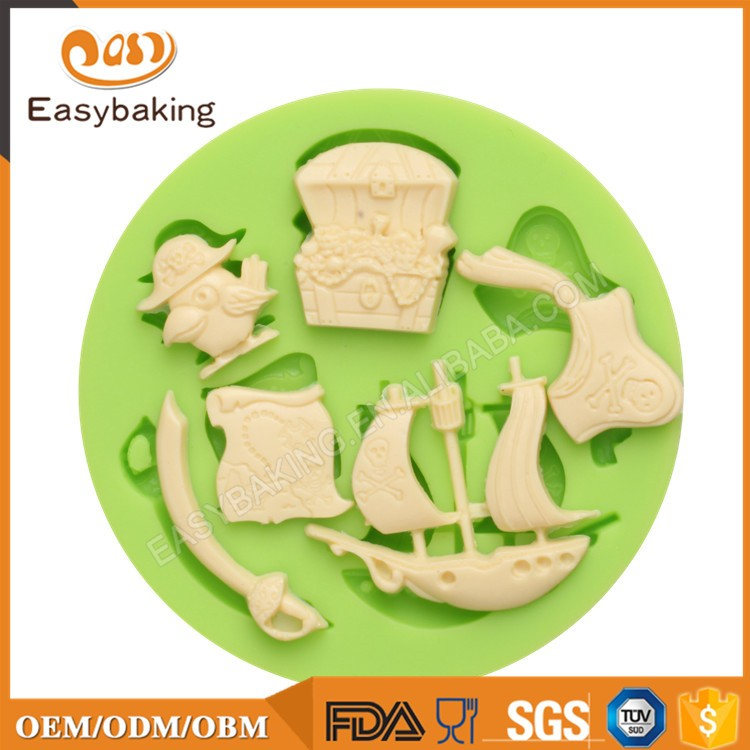 ES-0839 One Piece Series Silicone Molds Fondant Moulds for cake decorating
