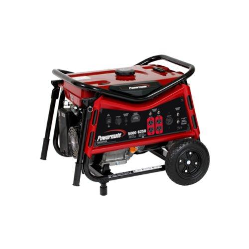 Powermate PMC105007, 5000 Running Watts/6250 Starting Watts, Gas Powered Portable Generator