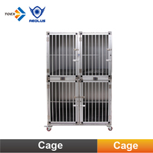 KA-506 Compound Aluminum Dog Kennel Modular Pet Dog Cage Crates with Wheels