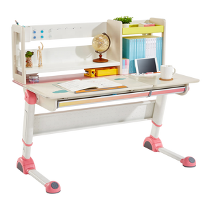 2M2KIDS AD13002 ergonomic children desk and chair set study table with bookshelf and drawer luxury style for Christmas gift