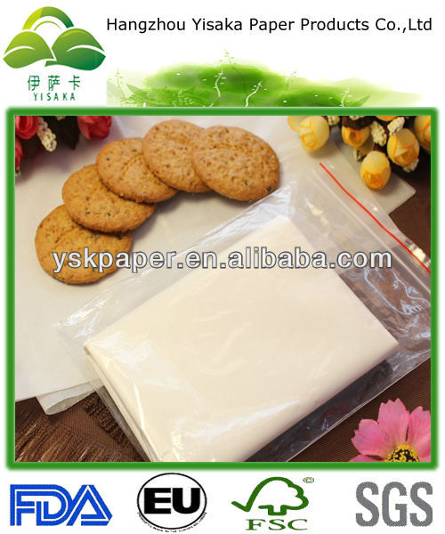 environmental FDA certificated bleached greaseproof paper
