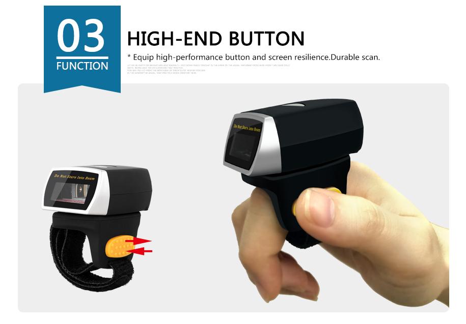 블루투스 링 바코드 스캐너 손가락 스캐너 판매 바코드 스캐너 모듈 1D 2D CCD