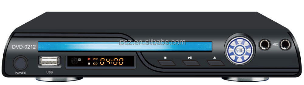 China Factory OEM cheap mini metal cover DVD player with Mic jack USB