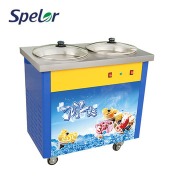 High Quality Durable Using Various Single Flat Pan Fry Ice Cream Machine