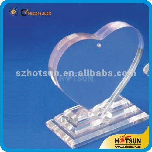 2015 new style heart shape acrylic trophy for sale