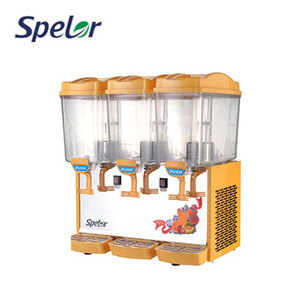 Safe Totally-Enclosed Type Compressor Fruit 3 Tier Juice Jar Cool Drink Dispenser For Sale