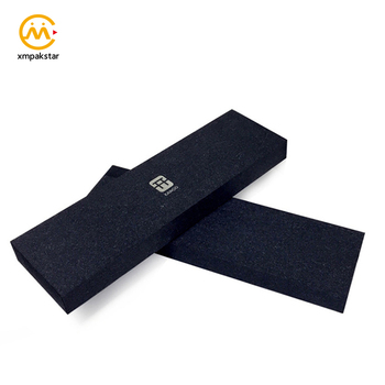 Luxury high quality customizable black cardboard necktie tie gift packaging box