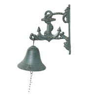 Antique cast iron metal art and craft anchor door hanging bell for garden decoration