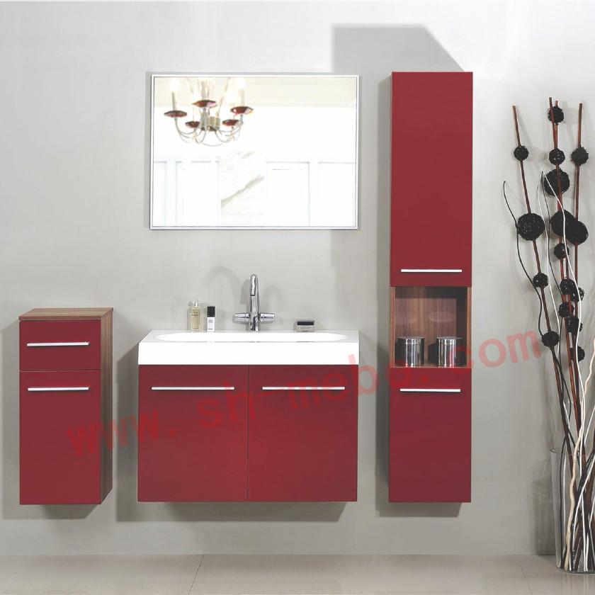 Modern Wall Hung Mirror Bathroom Cabinet/vanity And Resin Basin ...