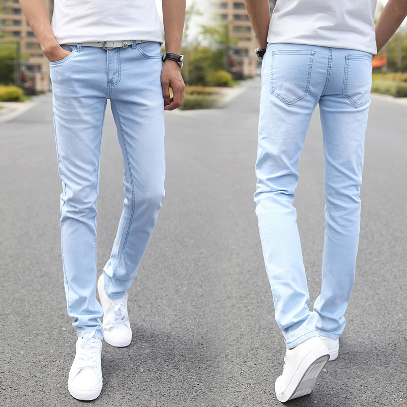 Men Elastic Casual Straight Jeans 2016 New Mid Cowboy ... - photo#35