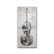 Handmade Canvas Abstract Musical Instrument Oil Painting for Bar
