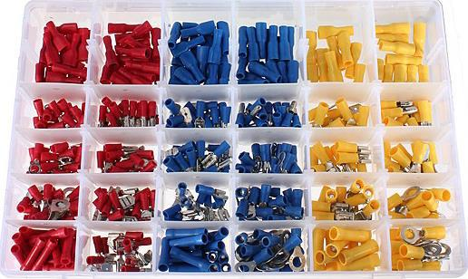 480pcs Insulated Terminals Electrical Crimp Connector Butt Spade ...